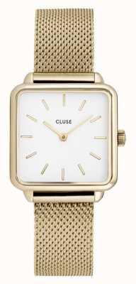 CLUSE | latétragone|金网带|白色表盘| CL60002