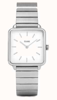 CLUSE | latétragone|单链不锈钢|白色表盘| CL60022S