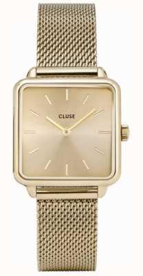 CLUSE | latétragone|金网带|金色表盘| CL60015