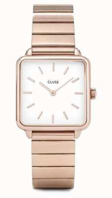 CLUSE | latétragone|单链玫瑰金手链|白色表盘 CL60024S