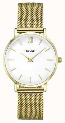 CLUSE |女式连衣裙|金网手链|白色表盘| CW0101203007