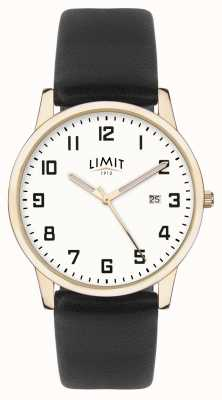 Limit |男士黑色皮革|银色表盘|金盒| 5742.01