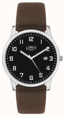 Limit |男士深棕色皮表带|黑色表盘| 5744.01