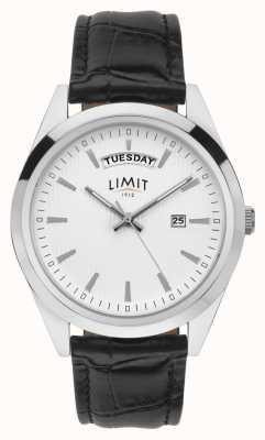 Limit |男士黑色皮革|银色表盘|银案| 5749.01