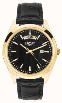 Limit |男士黑色皮表带|黑色表盘|金盒| 5750.01