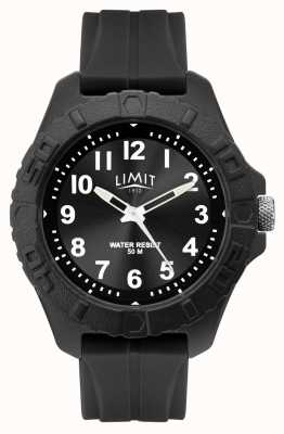 Limit |男性活跃成人类似物|黑色橡胶表带| 5754.01