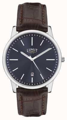 Limit |男士棕色皮表带|蓝色表盘|银案| 5745.01