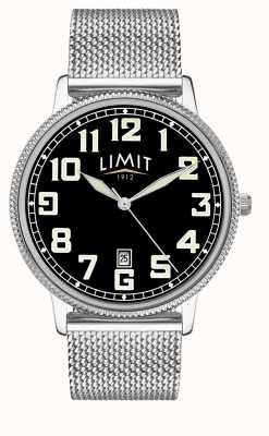 Limit |男士不锈钢网眼手链|黑色表盘| 5748.01