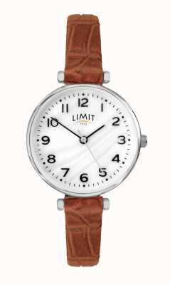 Limit |女式棕色皮表带|珍珠贝母拨号| 60060.01