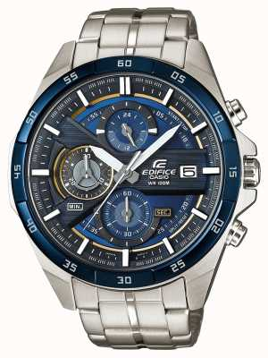 Casio |大厦计时码表|不锈钢|蓝色表盘| EFR-556DB-2AVUEF