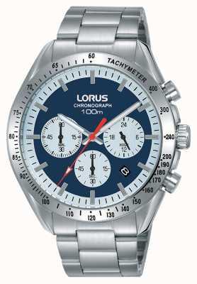 Lorus |男士计时码表|不锈钢手链|蓝色表盘| RT339HX9