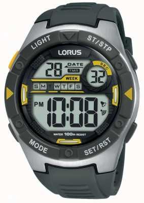 Lorus |男子运动数码|黑色橡胶表带| R2397MX9