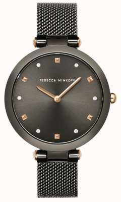 Rebecca Minkoff 女子尼娜|灰色网状手链|灰色表盘 2200302
