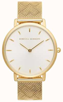 Rebecca Minkoff 女装专业|镀金网手链|银白色表盘 2200298