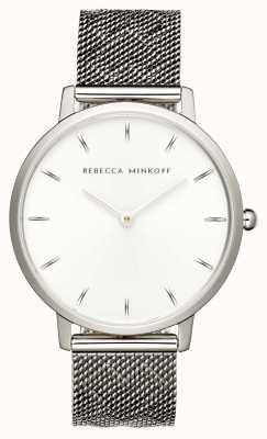 Rebecca Minkoff 女装专业|不锈钢网手链|银色表盘| 2200297