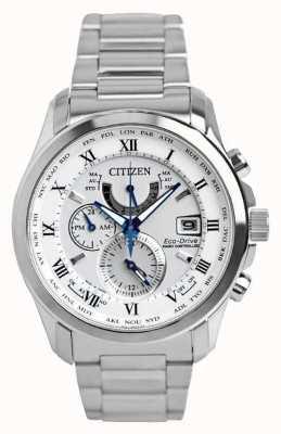Citizen |男士环保驾驶无线电控制于|不锈钢 AT9081-89A