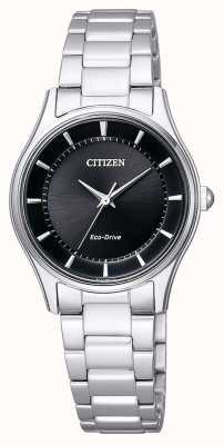 Citizen |女性生态驱动器|不锈钢手链|黑色表盘| EM0401-59E