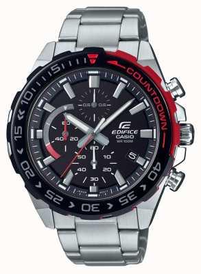Casio |大厦计时码表|不锈钢手链|黑色表盘 EFR-566DB-1AVUEF