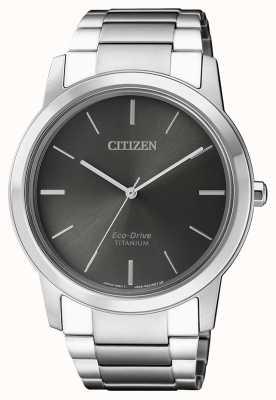 Citizen |男士生态驱动钛wr50 |灰色表盘 AW2020-82H
