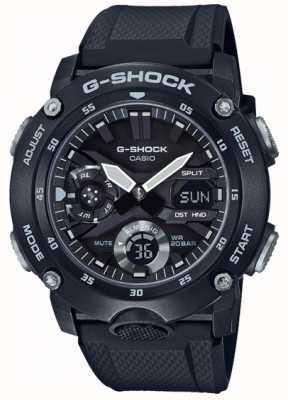 Casio | g-shock碳芯护罩|黑色橡胶表带| GA-2000S-1AER