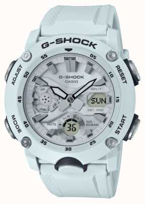 Casio | g-shock碳芯护罩|白色橡胶表带| GA-2000S-7AER
