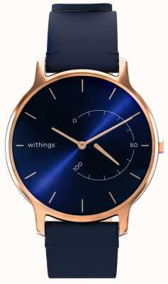 Withings 永恒经典别致-蓝色皮革,玫瑰金 HWA06M-TIMELESS CHIC-MODEL 3-RET-INT