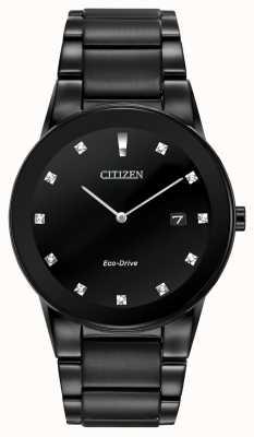 Citizen |男士公理环保驱动器|黑色钻石表盘|黑色手链 AU1065-58G