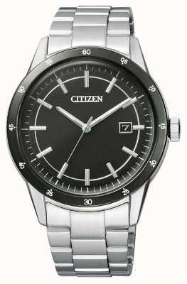 Citizen  男士环保驱动器 不锈钢手链 黑色表盘  AW1164-53E