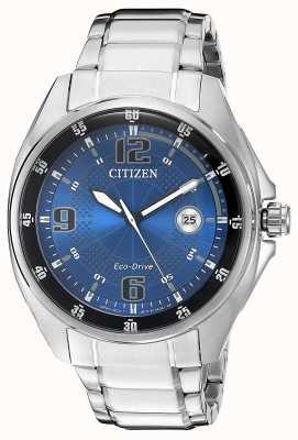 Citizen |男士生态驱动器|蓝色表盘|不锈钢手链| AW1510-54L