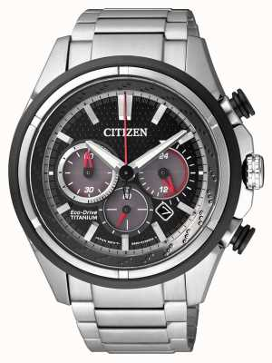 Citizen |男士生态驱动器|钛手链|黑色表盘| CA4241-55E