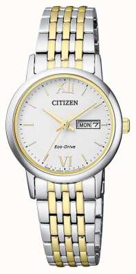 Citizen |女士环保驱动器|两音手链|银表盘| EW3254-87A