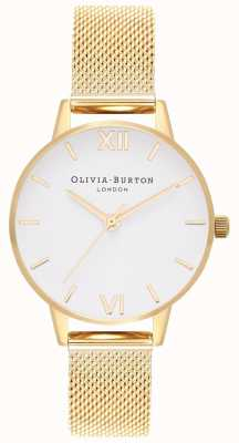 Olivia Burton |女装|白色表盘|金网手链| OB16MDW35