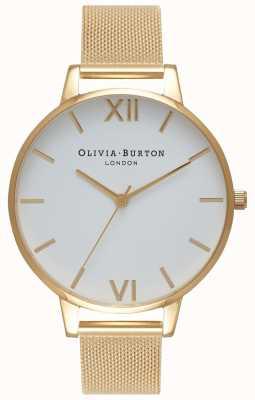 Olivia Burton |女装|白色表盘|金网手链| OB15BD84