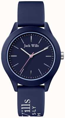 Jack Wills |妇女联盟|海军表盘|海军硅胶表带| JW009NVBL