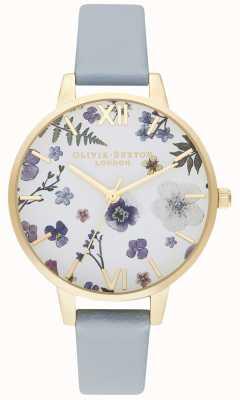 Olivia Burton |女装|工匠|纯素粉笔蓝色表带| OB16AR08