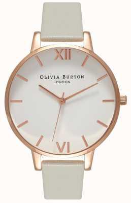 Olivia Burton |女装|白色表盘|灰色皮革表带| OB15BDW02