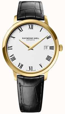 Raymond Weil |男士托卡塔|金盒|黑色皮革表带| 5588-PC-00300