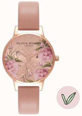 Olivia Burton |女士|花卉表盘|素食玫瑰沙带| OB16VE02