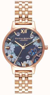 Olivia Burton |女士|宝石花饰|玫瑰金手链| OB16BF17