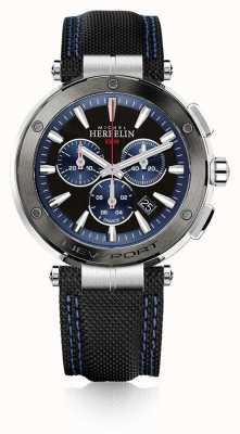 Michel Herbelin |男士|纽波特|蓝色和黑色计时码表|橡胶| 37688/AG65