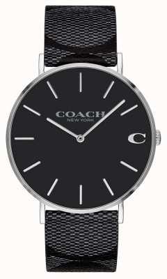 Coach  男士 签名 查尔斯 黑色皮革  14602157