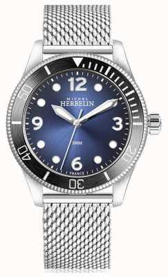 Michel Herbelin |奖杯石英|男士|蓝色表盘|不锈钢网| 12260/AN15B