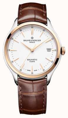 Baume & Mercier |克利夫顿堡美|棕色皮革|白色表盘| M0A10401