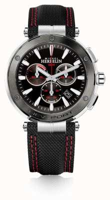 Michel Herbelin |男士|纽波特|红色和黑色计时码表|尼龙| 37688/AG44