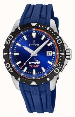 Festina |男士潜水员|蓝色橡胶表带|蓝色表盘| F20462/1