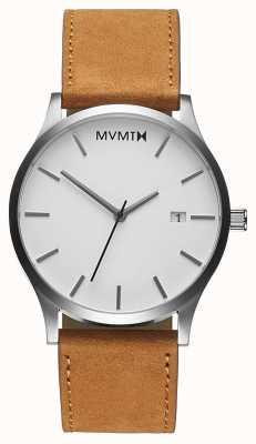 MVMT 经典的白色棕褐色|棕色皮革表带|白色表盘 D-L213.1L.331