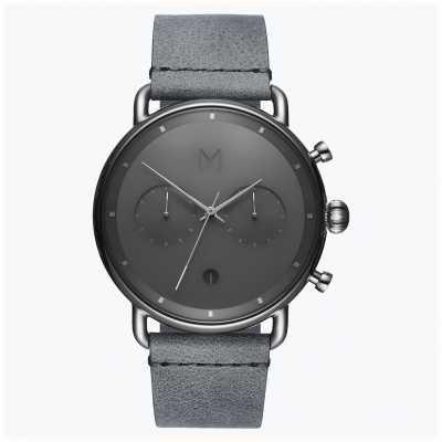 MVMT 柏油银雾|灰色皮革表带|灰色表盘 D-BT01-SGR