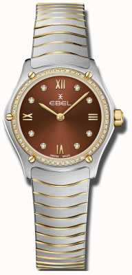 EBEL 女子运动经典|棕色表盘|钻石套装|不锈 1216443A