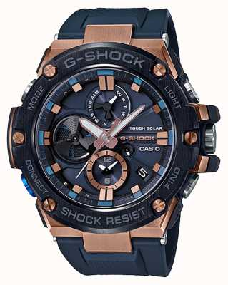 Casio | g-shock | g钢|蓝牙|计时码表|蓝色| GST-B100G-2AER