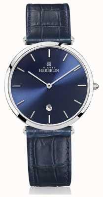 Michel Herbelin |男士| epsilon |蓝色皮革表带|蓝色表盘| 19406/15BL
